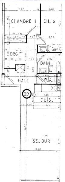 Plan de la location Location Appartement 110053 Courchevel