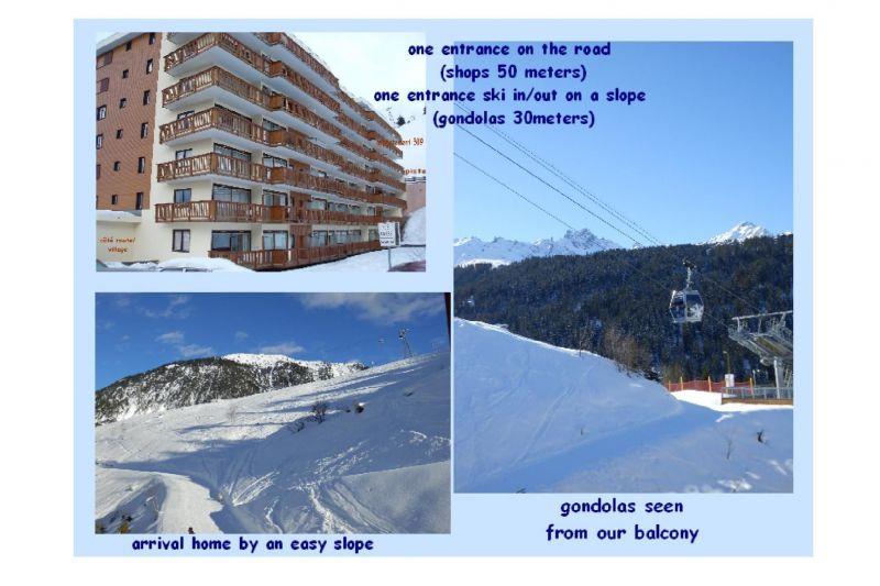 Vue depuis la location Location Appartement 110053 Courchevel