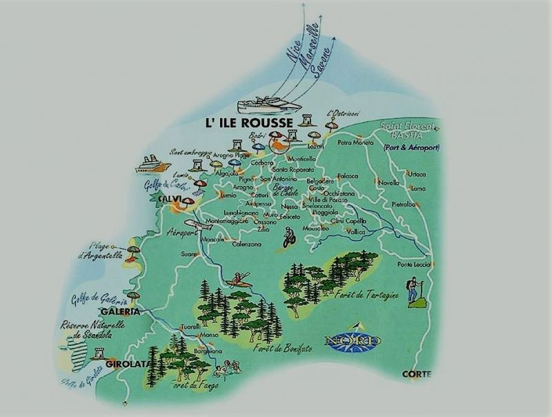 Carte Location Appartement 114366 Ile Rousse