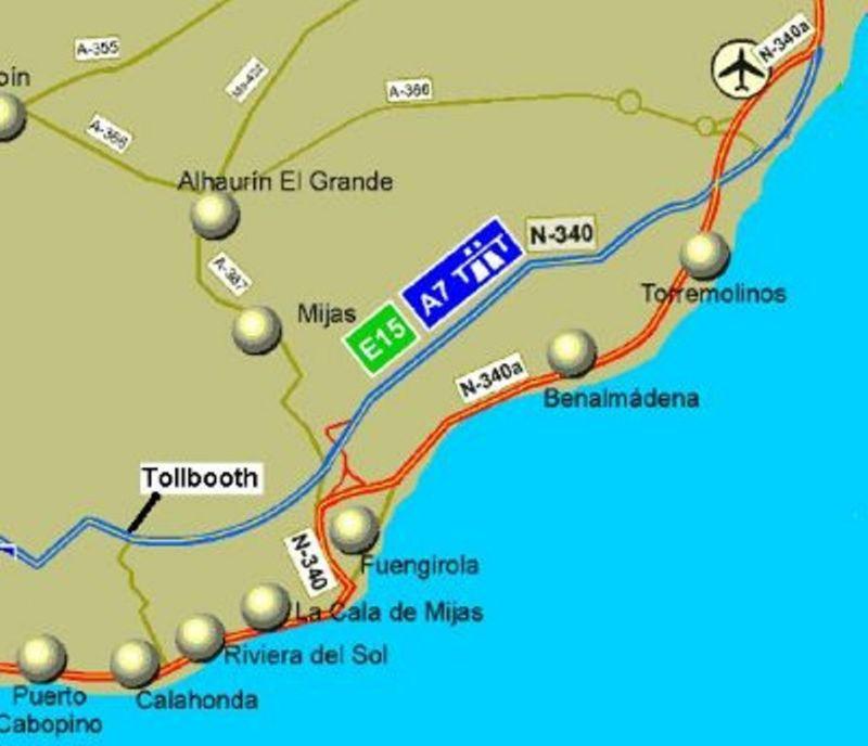 Carte Location Appartement 116746 La Cala de Mijas