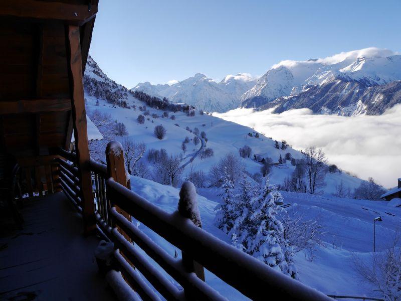Vue du balcon Location Appartement 67048 Alpe d'Huez
