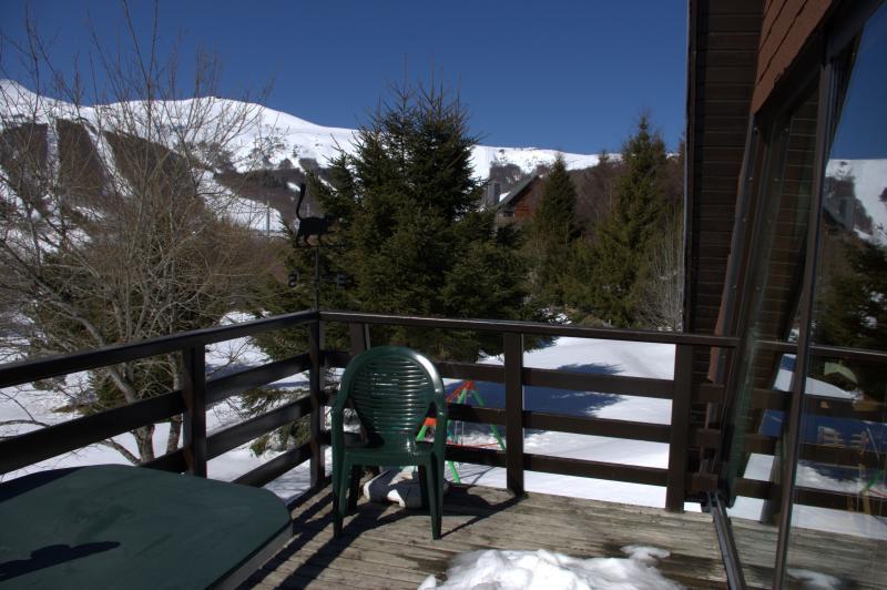 Vue de la terrasse Location Chalet 67212 Besse - Super Besse
