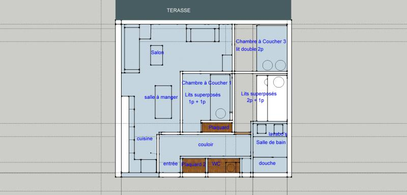 Plan de la location Location Appartement 73736 Tignes