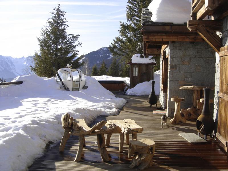 Vue de la terrasse Location Chalet 77938 Saint François Longchamp