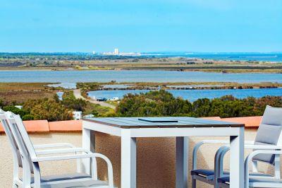 Vue de la terrasse Location Villa 101272 Saint Pierre la Mer