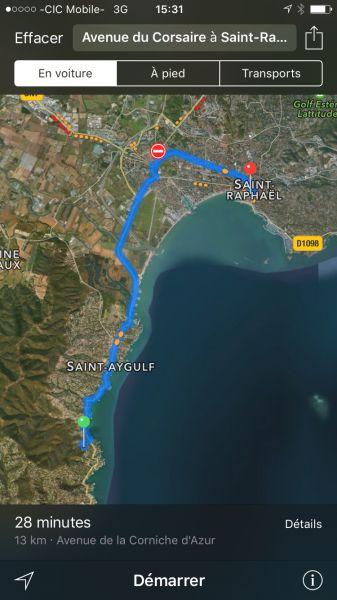 Carte Location Villa 103815 Les Issambres