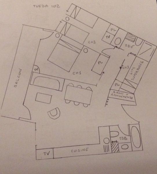 Plan de la location Location Appartement 112657 Méribel