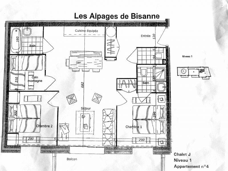 Plan de la location Location Appartement 112846 Les Saisies