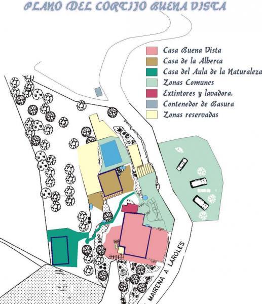 Plan de la location Location Gite 83882 Laroles