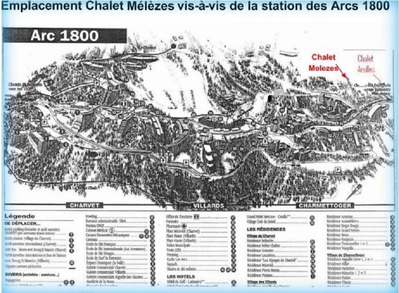Carte Location Gite 100022 Les Arcs