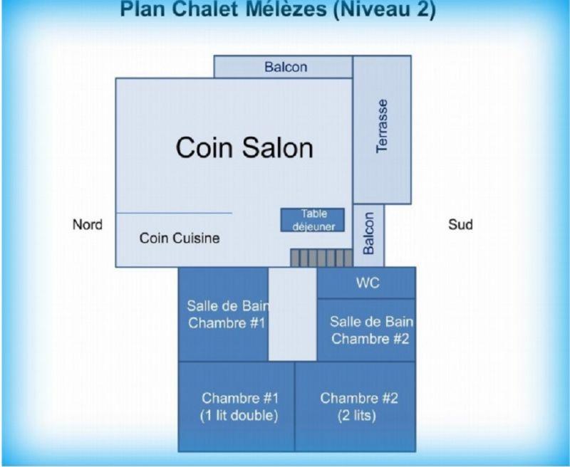 Plan de la location Location Gite 100022 Les Arcs