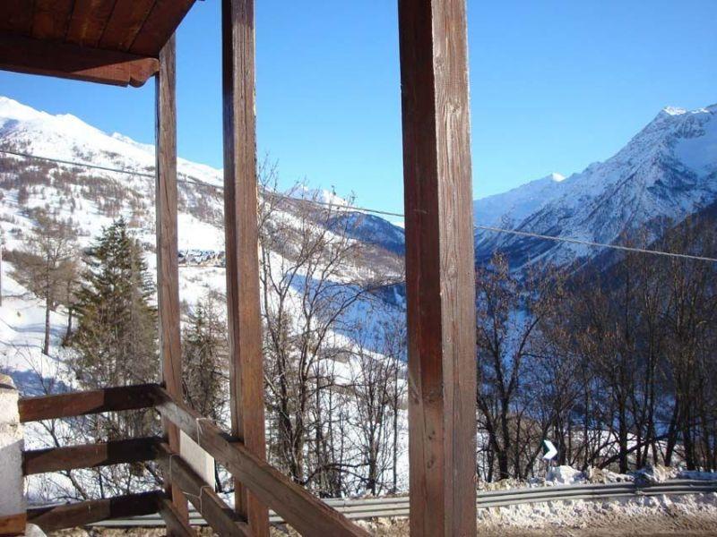 Vue du balcon Location Appartement 112606 Sestrières