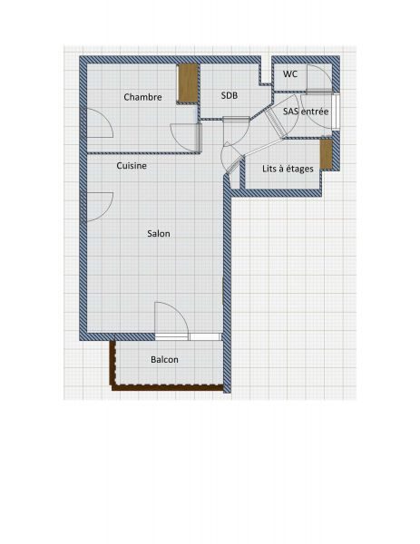 Plan de la location Location Appartement 118170 Orcières Merlette