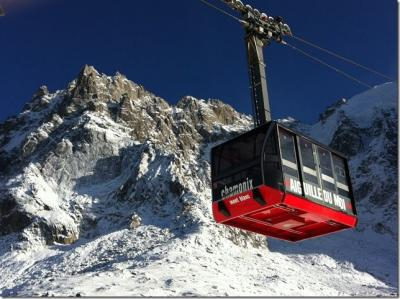 Vue du balcon Location Studio 67211 Chamonix Mont-Blanc