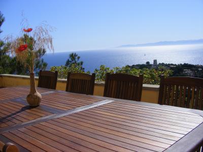 Vue de la terrasse Location Villa 74805 Torre delle Stelle