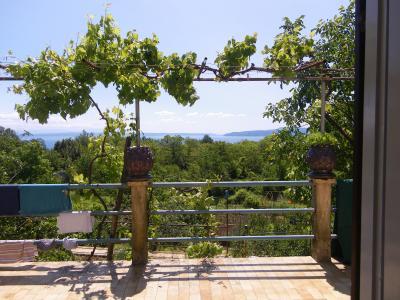 Vue de la terrasse Location Maison 76556 Icici
