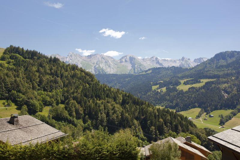 Vue du balcon Location Chalet 86535 Le Grand Bornand