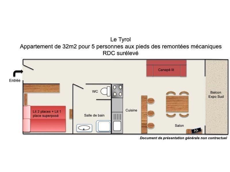 Plan de la location Location Studio 88307 Les 2 Alpes