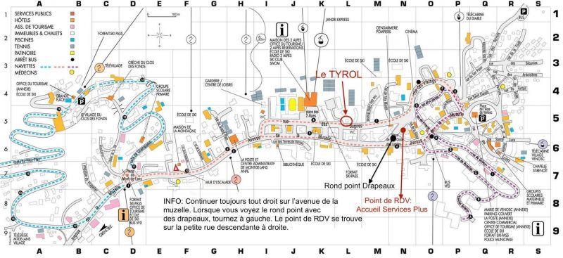 Carte Location Studio 88307 Les 2 Alpes