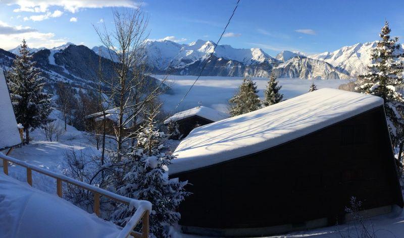 Vue depuis la location Location Chalet 100569 Alpe d'Huez