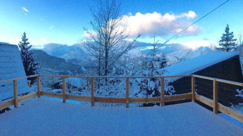 Vue de la terrasse Location Chalet 100569 Alpe d'Huez