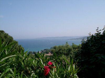 Vue du balcon Location Villa 106165 Sainte Maxime