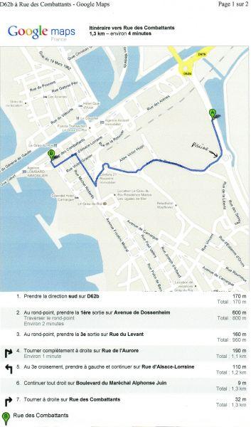 Plan de la location Location Appartement 108003 Le Grau du Roi
