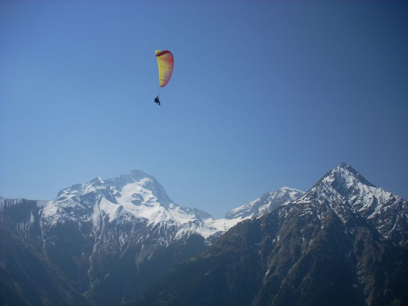 Vue de la terrasse Location Appartement 118929 Les 2 Alpes