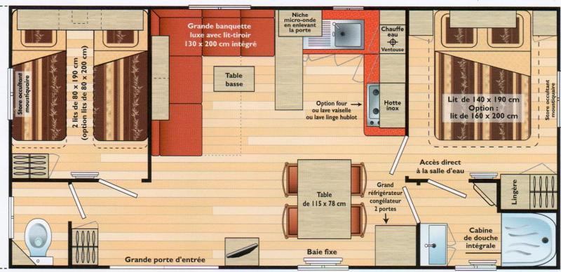Plan de la location Location Mobil-home 77786 La Cadière d'Azur