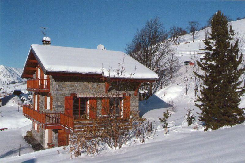Vue de la terrasse Location Chalet 91424 Les Menuires