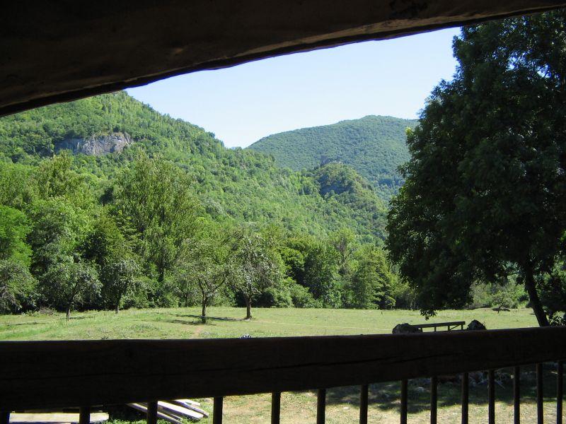 Vue du balcon Location Gite 95886 Ussat les Bains
