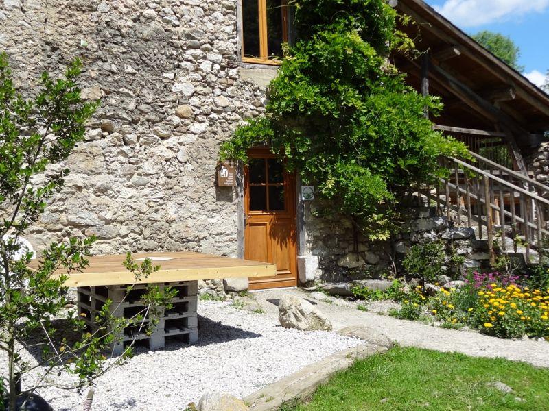 Vue de la terrasse Location Gite 95886 Ussat les Bains