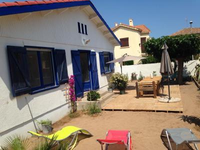 Vue ext�rieure de la location Location Maison 96400 Portiragnes