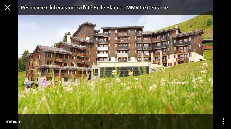 Vue extérieure de la location Location Appartement 111465 La Plagne