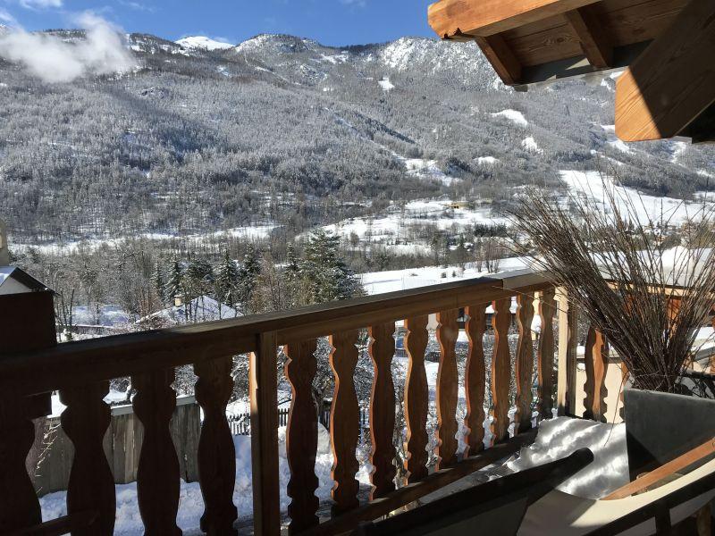 Vue du balcon Location Appartement 112868 Serre Chevalier