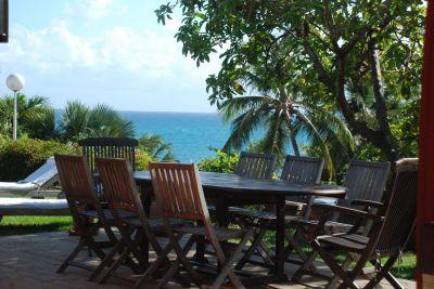 Vue de la terrasse Location Villa 116237 Saint Francois
