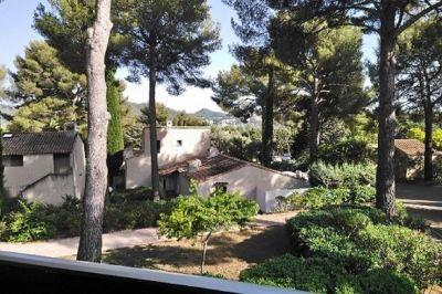 Vue de la terrasse Location Studio 116399 Saint Cyr sur Mer