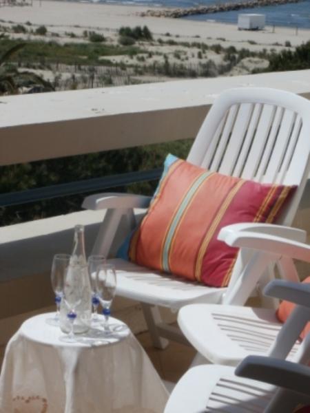 Vue de la terrasse Location Appartement 86917 Le Grau du Roi