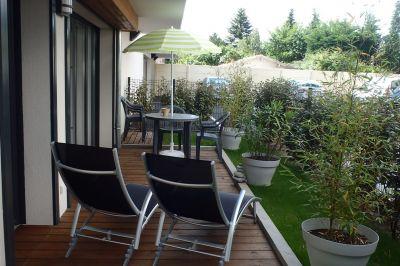 Vue de la terrasse Location Appartement 93098 Arcachon