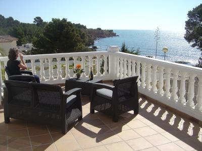 Vue de la terrasse Location Villa 94907 L'Ampolla