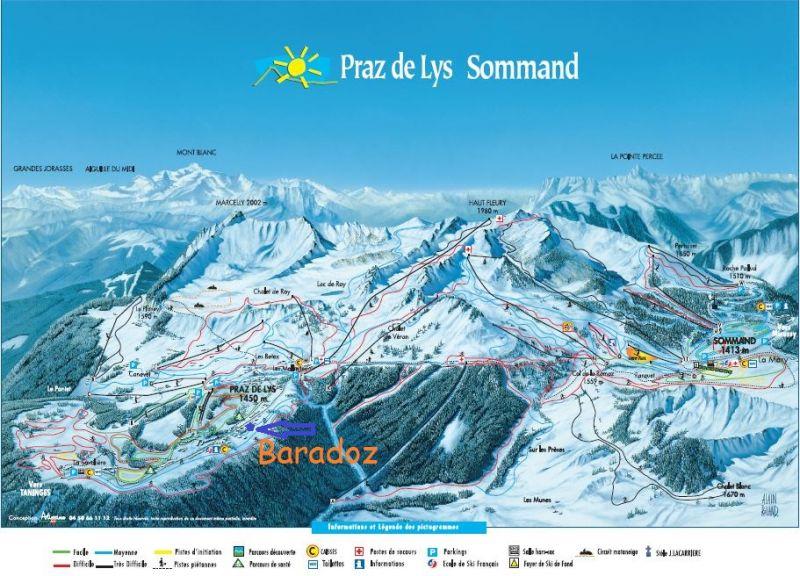 Carte Location Chalet 101067 Praz de Lys Sommand