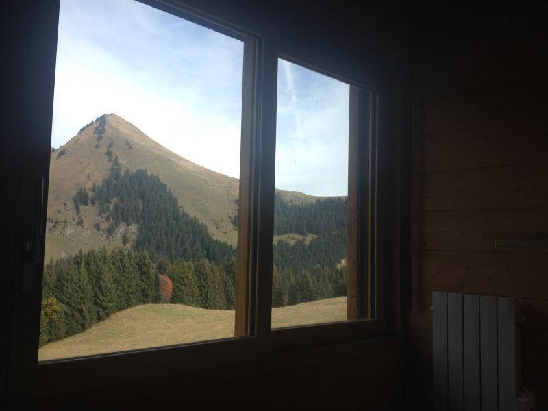 Vue du balcon Location Chalet 101067 Praz de Lys Sommand