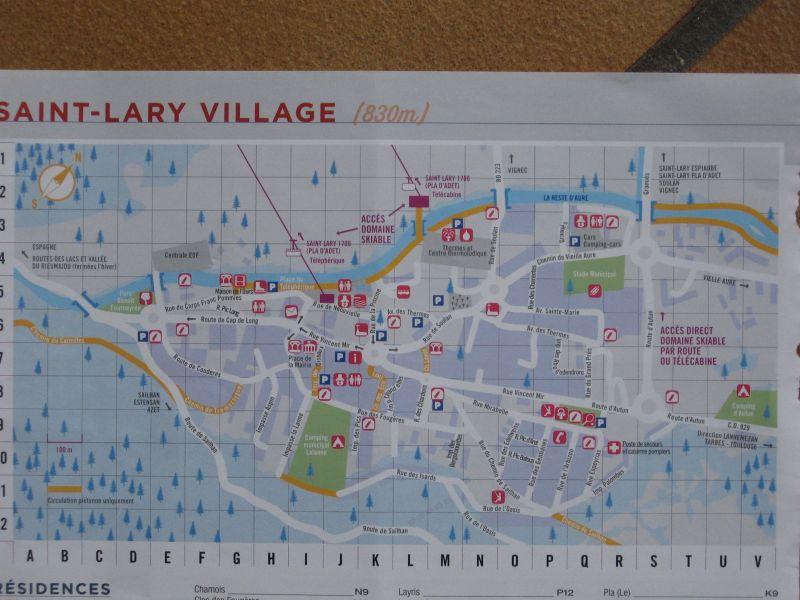 Plan de la location Location Studio 102477 Saint Lary Soulan
