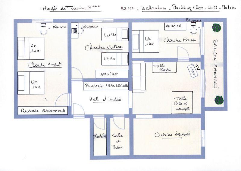 Plan de la location Location Gite 107380 Lyon