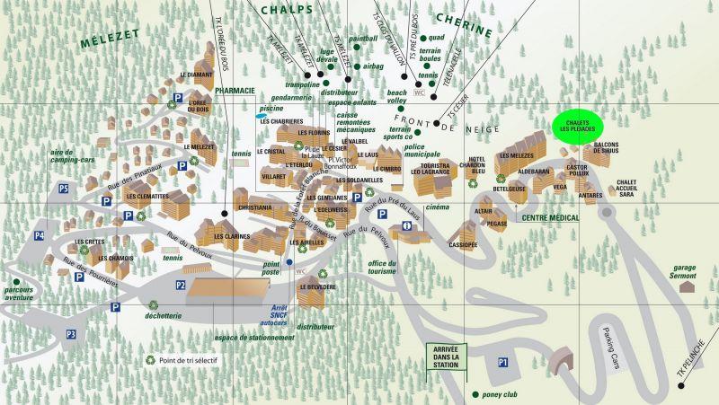 Plan de la location Location Chalet 111824 Risoul 1850