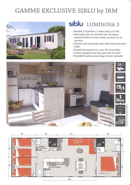 Plan de la location Location Mobil-home 116897 Saint-Julien-en-Born