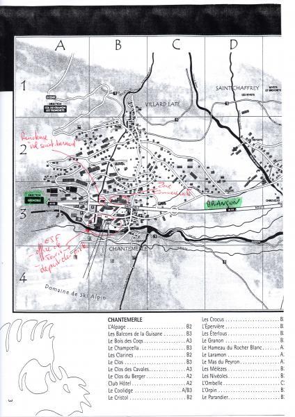 Plan de la location Location Appartement 66595 Serre Chevalier