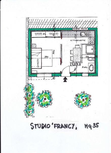 Plan de la location Location Appartement 73307 Nice