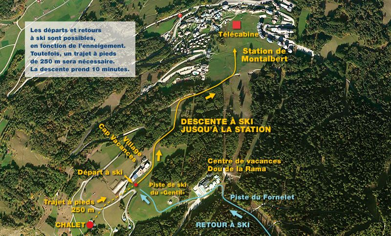 Carte Location Chalet 81374 La Plagne