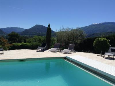 Vue de la terrasse Location Villa 82681 Vaison la Romaine